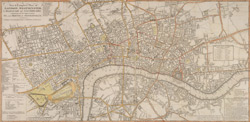 A new & complete plan of London, Westminster, & borough of Southwark containing all the improvements in, and round the Metropolis